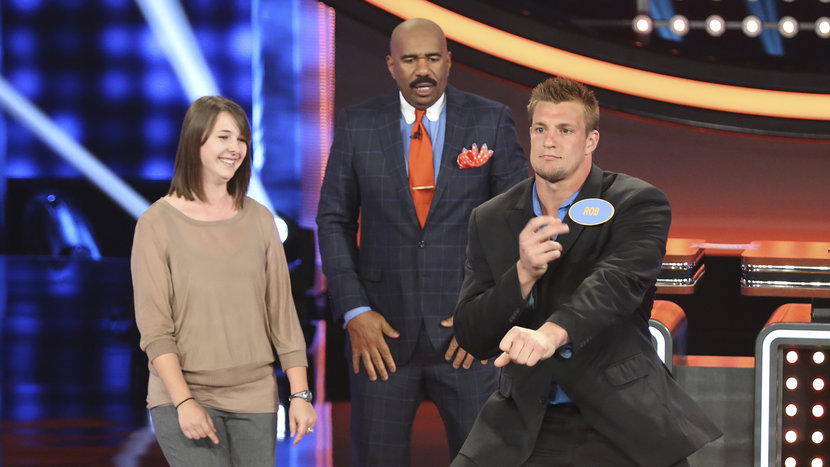 rob gronkowski celebrity family feud
